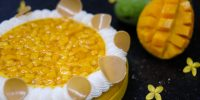 Caramelised Mango Cheesecake Mousse
